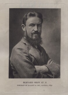 George Bernard Shaw, by Elliott & Fry - NPG x137221