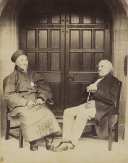 Li Hongzhang (Li Hung Chang); William Ewart Gladstone, by George Watmough Webster - NPG P1700(22c)