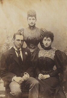 Haakon VII, King of Norway; Queen Alexandra; Maud, Queen of Norway, by W. & D. Downey, 1896 - NPG P1700(24a) - © National Portrait Gallery, London