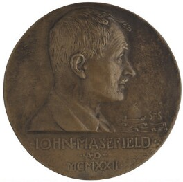 John Masefield, by Theodore Spicer-Simson - NPG 6969