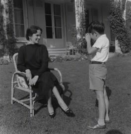 Oona Chaplin (née O'Neill); Michael John Chaplin, by Francis Goodman - NPG x195003