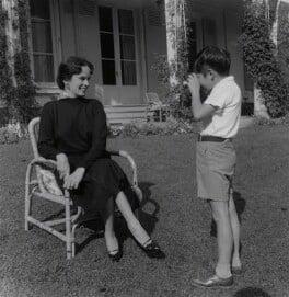 Oona O'Neill; Michael Chaplin, by Francis Goodman - NPG x195003