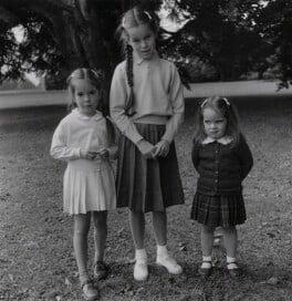Josephine Chaplin; Geraldine Chaplin; Victoria Chaplin, by Francis Goodman - NPG x195004