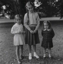 Josephine Hannah ('Josie') Chaplin; Geraldine Leigh Chaplin; Victoria Chaplin, by Francis Goodman - NPG x195004