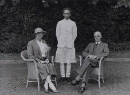 Mary Ethel Winifred (née MacEwen), Lady Barton; Getahum; Sir Sidney Barton, by Bassano Ltd - NPG x137242