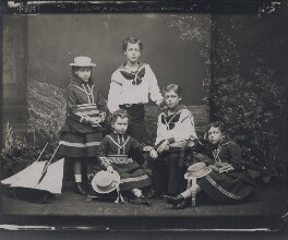 The children of King Edward VII, by Alexander Bassano, 1875 - NPG x137237 - © National Portrait Gallery, London
