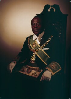 Sir Edward Okyere Asafu-Adjaye, by Rex Coleman, for  Baron Studios - NPG x191691