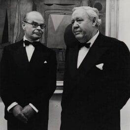 John Rothenstein; Charles Laughton, by Desmond O'Neill - NPG x184002