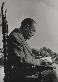 Somerset Maugham, by Slim Aarons (George Allen Aarons), for  Camera Press: London: UK - NPG x184025