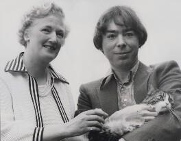 (Esme) Valerie Eliot (née Fletcher); Andrew Lloyd Webber, Baron Lloyd Webber, by Keystone Press Agency Ltd - NPG x184043