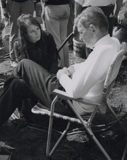 David Lean and Sarah Miles on the set of 'Ryan's Daughter', by Unknown photographer - NPG x184045