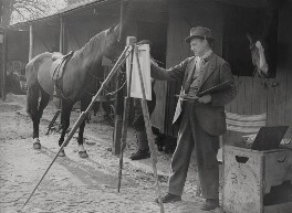 Sir Alfred James Munnings, by T. Dreslin - NPG x184093