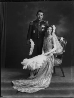 Probably Marquis Yorisade Tokugawa; probably Marchioness Tokugawa, by Lafayette (Lafayette Ltd), 10 July 1930 - NPG x70502 - © National Portrait Gallery, London