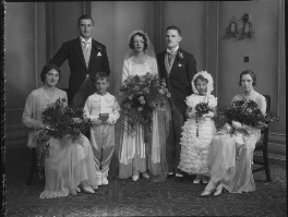 Bernard Hackforth; Kathleen Elizabeth Grobel (née Donaghy); Cyril Peter Grobel; Nan Donaghy; Eugenie Grobel, by Lafayette - NPG x137263