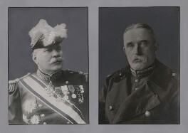 Joseph-Jacques-Césaire Joffre; John Denton Pinkstone French, 1st Earl of Ypres, by Unknown photographer, and by  Unknown photographer - NPG x137270