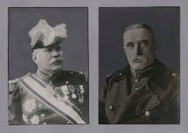 Joseph-Jacques-Césaire Joffre; John Denton Pinkstone French, 1st Earl of Ypres, by Unknown photographer, and by  Unknown photographer, published 1914 - NPG x137270 - © National Portrait Gallery, London