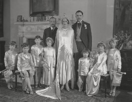 (Edith Penelope) Mary Lutyens, Anthony Rupert Henry Franklin Sewell and wedding party, by Lafayette - NPG x137282