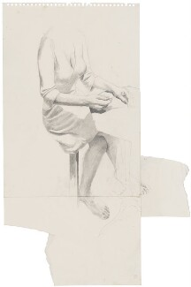 Preparatory sketch for J.K. Rowling, by Stuart Pearson Wright - NPG D42713
