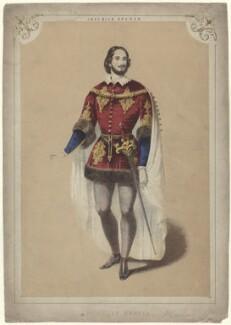 Giovanni Matteo de Candia (Mario) as Gennaro in Lucrezia Borgia, by Unknown artist - NPG D42716