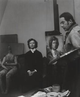 Deborah Vivien Cavendish (née Freeman-Mitford), Duchess of Devonshire; Pietro Annigoni, by Francis Goodman - NPG x195044