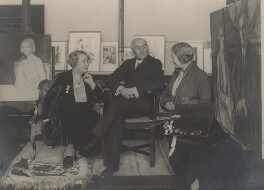 Emmeline Pethick-Lawrence; Frederick William Pethick-Lawrence; Laura Knight, by Photo Press, circa 1936 - NPG x137321 - © National Portrait Gallery, London