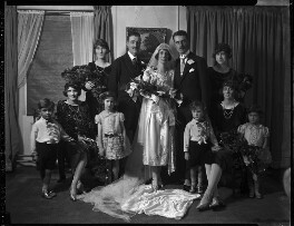 Estelle Mary Goad (née Milburn), John Francis Edwin Goad and wedding party, by Lafayette - NPG x184559