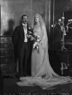 Norman Hall; Viola Florence Geraldine Hall (née Bankes), by Lafayette - NPG x184593