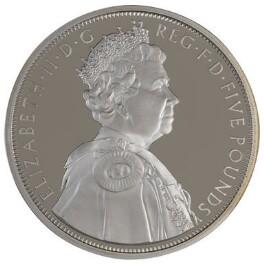 Queen Elizabeth II, by Ian Rank-Broadley, issued by  The Royal Mint - NPG D42720
