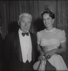 Charlie Chaplin; Oona O'Neill, by Francis Goodman - NPG x195068