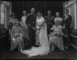 Edward Russell Gibson, 3rd Baron Ashbourne, Reta Frances Manning (née Hazeland), Lady Ashbourne and wedding party, by Lafayette (Lafayette Ltd), 20 July 1929 - NPG x184617 - © National Portrait Gallery, London