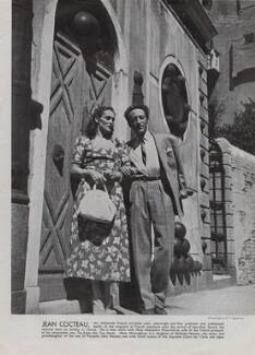 June Mnouchkine (née Hannen); Jean Cocteau, by Francis Goodman - NPG x195082