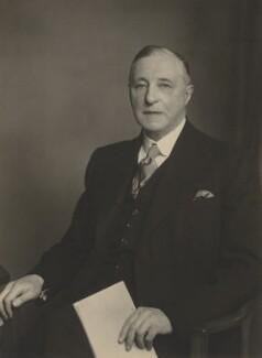 Sir (William) Lacon Threlford, by Walter Stoneman - NPG x185693