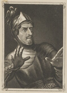 Thomas Cobham as Marmion, by John Rogers, published by  George Virtue, after  Thomas Charles Wageman - NPG D42721