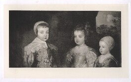 The three eldest children of Charles I (King Charles II; Mary, Princess Royal and Princess of Orange; King James II), after Sir Anthony van Dyck - NPG D42690