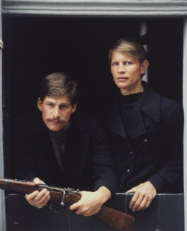 Simon MacCorkindale; Michael York, by Clay Perry - NPG x137412