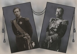 King Albert I of Belgium; Nicholas II, Emperor of Russia, by Eugène Boute, and by  Unknown photographer - NPG x137452