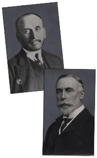 Sergey Dmitriyevich Sazonov; Sir Maurice William Ernest de Bunsen, Bt, by Unknown photographer, and by  Unknown photographer - NPG x137456