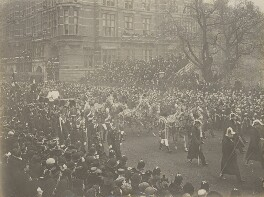 Queen Victoria's funeral procession, by Unknown photographer - NPG P1700(52b)