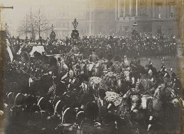 Queen Victoria's funeral procession at Hyde Park Corner, by Unknown photographer - NPG P1700(53)