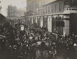 Queen Victoria's funeral procession entering Paddington Station, by Unknown photographer, 2 February 1901 - NPG P1700(55) - © National Portrait Gallery, London