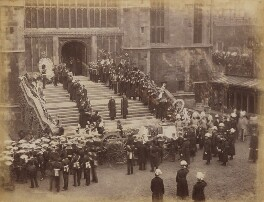 Queen Victoria's funeral procession arriving at St George's Chapel, Windsor, possibly by James Russell & Sons - NPG P1700(56)