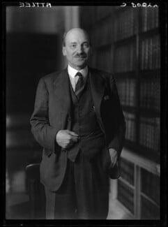 Clement Attlee, by Walter Stoneman - NPG x187414