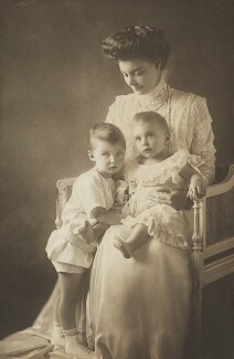 Prince Wilhelm of Prussia; Cecile, German Crown Princess and Crown Princess of Prussia; Prince Louis Ferdinand of Prussia, by Unknown photographer - NPG P1700(91c)