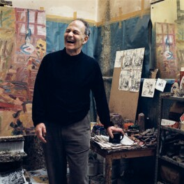 Frank Auerbach, by Kevin Davies - NPG x137501