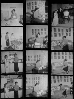 Chaplins' maid; Oona O'Neill; Victoria Chaplin; Josephine Chaplin, by Francis Goodman - NPG x195181