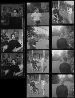 Oona O'Neill; Michael Chaplin, by Francis Goodman - NPG x195183