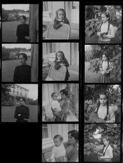 Oona O'Neill; Victoria Chaplin; Eugene Anthony Chaplin; Geraldine Chaplin, by Francis Goodman - NPG x195184