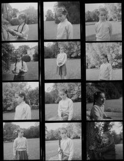 Geraldine Chaplin; Victoria Chaplin, by Francis Goodman - NPG x195185