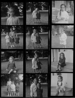 Josephine Hannah ('Josie') Chaplin; Geraldine Leigh Chaplin; Victoria Chaplin, by Francis Goodman - NPG x195186