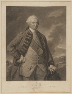 Robert Clive, 1st Baron Clive, by Francesco Bartolozzi, after  Nathaniel Dance (later Sir Nathaniel Holland, Bt) - NPG D42733